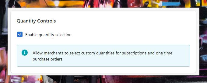 Subscription Widget – Custom Quantities
