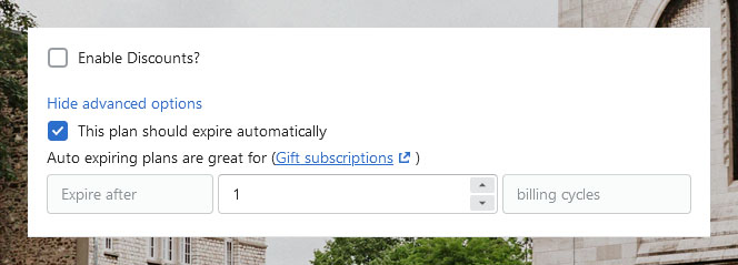 Sell Gift Subscriptions With Ongoing – Max Billing Cycles